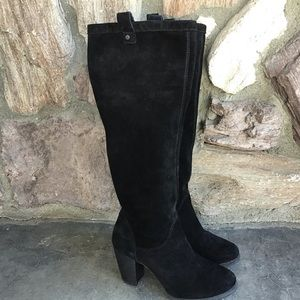 UGG Ava Black Suede Knee High Boots Size 5